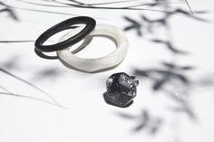 Dinosaur Designs The Art of Black & White 2013 Resin Jewellery Resin Jewellery, Jewelry, Dinosaur Design, Ear Rings, Rings For Men, Wedding Rings, Ceramics, Engagement Rings, Black And White