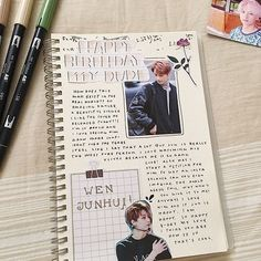 Bullet Journal Notebook, Bullet Journal Inspiration, Book Journal, Journals, Notebooks, Bujo, Drawing Journal, Journal Aesthetic, Photo Album Scrapbooking