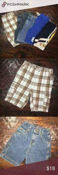 Boys size 5 shorts bundle Boys size 5 shorts bundle. -Sonoma life + style plaid shorts. Size M(5/6). 100% cotton. -Faded Glory size 5R cargo shorts. 100% cotton. -Sonoma jeans life + style cargo shorts. Size 5. 100% cotton. -Garanimals soft shorts. Size 5. 100% cotton. -Scooby Doo basketball shorts. Size 5. 100% polyester. No trades, offers welcome! sonoma Bottoms Shorts
