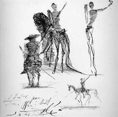 dali - studies for don quixote