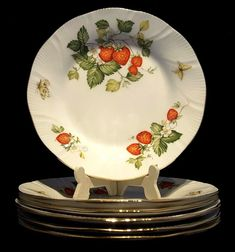 6 #Crownford~#Ringtons~#Virginia #Strawberry~#Tea Plates  #Seraphimslair See #Etsy #eBay #Twitter #Facebook & #Instagram for #antique, #vintage & #modern #art #glass, #ceramics, #collectibles & #gifts! https://www.ebay.co.uk/usr/seraphimslair2 https://twitter.com/Seraphimslair https://www.instagram.com/seraphimslair5stars/ https://www.etsy.com/uk/shop/seraphimslair https://www.facebook.com/seraphimslair/ #USA #UK #CHINA #EUROPE #STYLE #STYLISH #FASHION #POTTERYBARN #XMAS #THAILAND