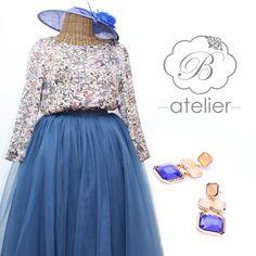 #totallook #invitadaPerfecta un dos piezas blusa & #tutuskirt #falda de tul #pendientesJoya #BualáDesign atelier