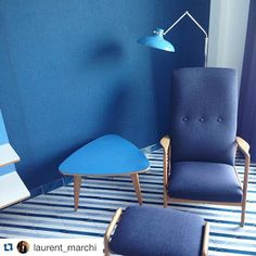"""Bleu Blu Blue - Furnitures designed by #gioponti"" #Italy #Italia #意大利 #parcodeiprincipi #sorrento #hotel #旅馆 #summer #estate #夏天 ☀ #followourguests picture by @laurent_marchi"