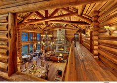 Reno Lake Tahoe Photographer For Architecture Interior Corporate Industrial Photography / Vance Fox Log Cabin Living, Log Cabin Homes, Log Cabins, Mountain Cabins, Mountain Living, Log Home Interiors, Little Cabin, Timber House, Industrial Photography