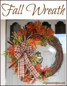 "It's finally fall! I'm sharing two fall wreaths that are on two of my exterior doors. Today is wreath day for the ""Fall Ideas Tour"". Visit…"