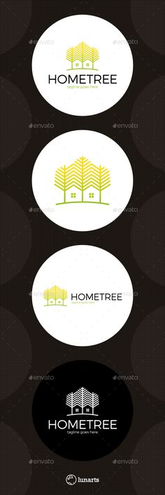 Tree Line Home Logo Template Vector EPS, AI Illustrator #logotype Download here: http://graphicriver.net/item/tree-line-home-logo/14021634?ref=ksioks