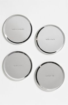 kate spade new york 'silver street' coasters (Set of 4) available at #Nordstrom $30