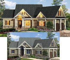 Craftsman-Inspired Ranch Home Plan - thumb - 02 Rustic House Plans, Lake House Plans, Ranch House Plans, Cottage House Plans, Small House Plans, House Floor Plans, Cottage Living, My Dream Home, Dream Homes