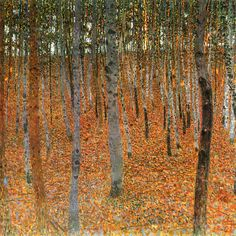 Gustav Klimt, Beech Grove, 1902 I love that Klimt had a fascination with trees as well as the human form. There is a relationship...
