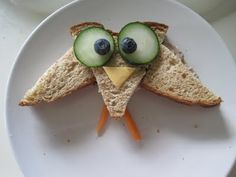 Owl eat that sandwich! Toddler Friendly Meals, Toddler Meals, Kids Meals, Cute Food, Good Food, Yummy Food, Boite A Lunch, Childrens Meals, Toddler Fun