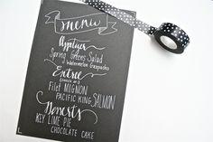 Custom Menu - Wedding Menu - Hand Lettering. $80.00, via Etsy.