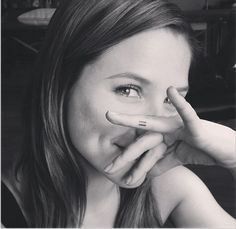 Sophia Bush Copies Miley Cyrus' Equal Sign Tattoo on Her Finger http://www.popstartats.com/buzz/sophia-bush-copies-equal-sign-finger-tattoo