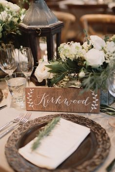 Themed Table Numbers or Names Wooden Wedding by PaperandPineCo