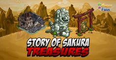 Story Of Sakura: Treasures  I Treasures in Story Of Sakura sono davvero tanti in funzione delle 4 zone in cui la farm si divide e del fatto che ci sono zone di terra e zone di acqua!    Per scoprirne il contenuto dovremo utilizzare i seguenti materiali:  Treasure PP:  Moss Walls (Small) -> 10 Bamboo Machete  Garden Lamp (Medium) -> 22 Bamboo Machete  Bullock Cart (Large) -> 28 Bamboo Smasher  Farmer Shack (XL) -> 42 Bamboo Smasher  Treasures RB:  River Rocks (Small) -> 10 Bamboo Machete…