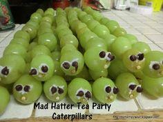 Mad Hatter Tea Party ... Caterpillars (Grape's on Kabob's)