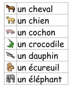 Les animaux French vocabulary word wall cards L French Language Lessons, French Language Learning, French Lessons, Spanish Language, Italian Language, Korean Language, Spanish Lessons, Japanese Language, French Flashcards