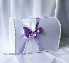 """Свадебный сундучок для денег """"Сиреневая свадьба""""  #wedding  #violetwedding…"""