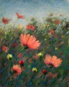 Betsy's Pastels: Flowers in motion