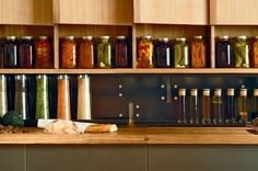 "Interesting visual. Have a shelf built that hss 1 unopened jar of everything you preserve on display. Far more likely to use it and easy to nip down to the cold room to refill the display. From the article: What ever happened to: ""Small fridges make good cities"" : TreeHugger"