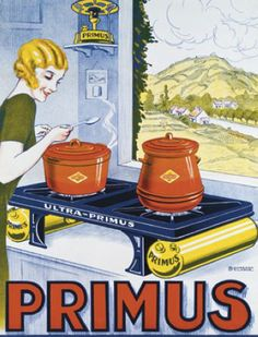 Gas stove Primus vintage poster
