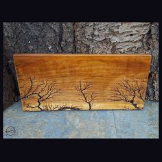 Over the tree tops. Another piece from our #Lightning Art collection. Solid black cherry wood, decorated with high voltage. This and more available in our Etsy shop. Www.cutbranchdecor.etsy.com . #walldecor #wallart #fractal #madeinnewyork #fractalart #arts #wooddecor #woodwork #lightning #lichtenberg #etsyshop #woodart #cutbranch #decor #highvoltage #electricity #dendritic #housewarming #christmasgifts #uniquedesign