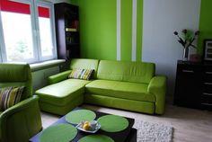 Wnętrza, Zielony salon:) - A oto nasz pokój dzienny, brakuje jeszcze kilku dodatków, ale z czasem to nadrobimy:)