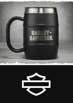 On the go with your favorite hot or cold drink? Grip this. | Harley-Davidson Insulated Barrel Mug