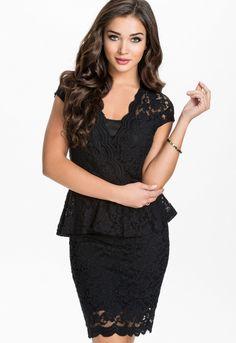 Sexy Flawless Lace Black Peplum Dress Mini Dresses For Women, Sexy Dresses, Short Dresses, Fashion Dresses, Peplum Dresses, Beautiful Dresses, Black Lace Midi Dress, Lace Peplum, Lace Dress