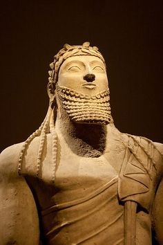 ETRUSCANS TRACED THEIR ANCESTRY TO URUK ANYWAY......Sumerian Male Votive Statue