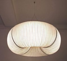 Lighting - Tekio paper lamp by Anthony Dickens Cool Lighting, Modern Lighting, Lighting Design, Hallway Lighting, Lighting System, Modern Chandelier, Interior Lighting, Interior Styling, Pendant Lamp