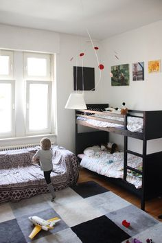 the boo and the boy: Black and white kids' rooms