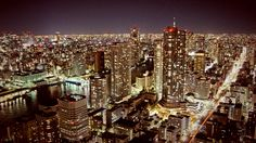 The night view of Tokyo is beautiful.