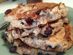 Fearless and Fit - with Amie DeSanzo: Chocolate chip clean Pancakes