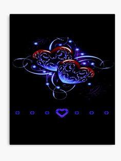 'Love Hearts Red Purple Glow Neon' Canvas Print by Heart Wallpaper, Butterfly Wallpaper, Love Wallpaper, Cellphone Wallpaper, Wallpaper Backgrounds, Wallpaper Samsung, Wallpaper Bible, Trendy Wallpaper, Purple Love