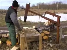 LiveLeak.com - Homemade manual wood splitter from Ukraine No directions