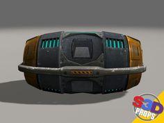 maya sci fi barrel