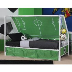 Goalkeeper Day Bed - great for the little soccer player! I think kids decor should be fun, would look great with a soccer rug!