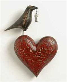 Really love this...bird, heart, key...may have to replicate it!