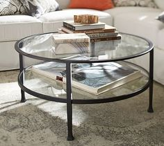 Metal furniture design Table Tanner Round Coffee Table Ashley Furniture Homestore Glass Wood And Metal Coffee Tables Pottery Barn Coffee Table Pottery Barn, Silver Coffee Table, Round Glass Coffee Table, Reclaimed Wood Coffee Table, Glass Tables, Shadow Box Coffee Table, Decorating Coffee Tables, My Living Room, Wood And Metal