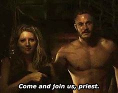 "amedawg18, amanda-gayfried: ""I've taken vows of...  amedawg18, Together in love, together in battle.  Vikings :: History Channel :: Ragnar Lothbrok (Travis Fimmel), Lagertha Lothbrok (Katheryn Winnick), Athelstan (George Blagden)  ot3 :: Team Threesome North :: Lagertha x Ragnar x Athelstan :: slash :: het :: bi"