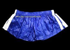 07ac48b364ab NEW SHINY WET LOOK MEN NYLON BOXER SHORTS WORKOUT RUNNING SWIMWEAR. Royal  Blue…