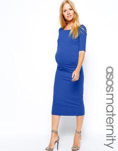 ASOS Maternity   ASOS Maternity Exclusive Bardot Dress With Half Sleeve at ASOS
