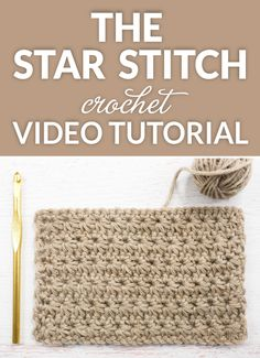 Star Stitch Crochet Tutorial - the star stitch has a stunning starburst design, hence the name. The front of the stitch looks different from the back yet the back also has a lovely linear look to it. While this stitch isn't the easiest, it's certainly not overly challenging either. #crochet #crochettutorial #crochetaddict #crochetstitch #crochetvideo