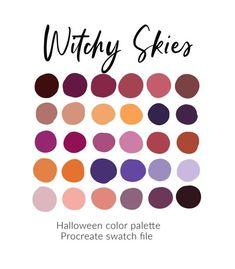 Fall Color Schemes, Fall Color Palette, Colour Pallette, Purple Palette, Best Color Combinations, Color Combos, Fall Paint Colors, Color Schemes Design, Theme Halloween