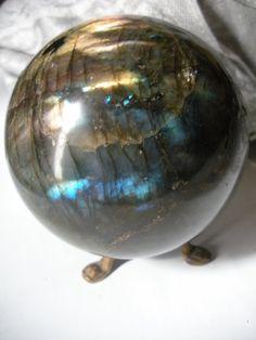 Vintage Labradorite Spectralite Crystal by AtticAntiquesVintage, $500.00