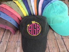 Monogrammed Baseball Hat, Womens hat, monogrammed hat, monogram hat, monogrammed cap, womens baseball cap, bridesmaids hats, bridesmaid gift by SewWhatFun on Etsy