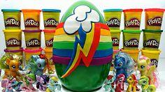 Rayo del Arco Iris Huevo Gigante de Plastilina Play Doh | Rainbow en Esp...