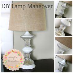 DIY Lamp Makeover @ makingitinthemountains.com