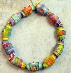 Rolled Beads | New Rolled Polymer Clay Beads.........https:/… | Flickr