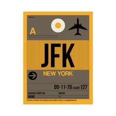 JFK New York Luggage Tag